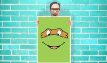 Teenage Mutant Ninja Turtles Michelangelo Mike or Mikey - Wall Art Print Poster   -  Art Geekery